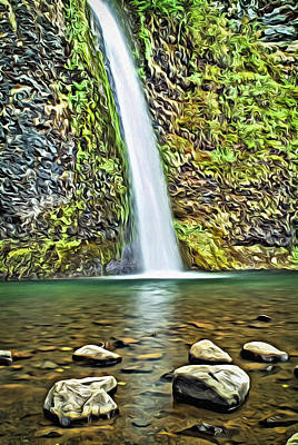 Digital Art - Horsetail Falls  by Patrick M Lynch