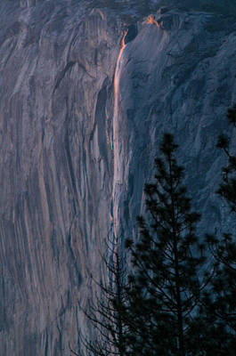 Photograph - Horsetail Falls Sunset Glow 2 by Connie Cooper-Edwards
