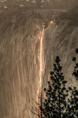 Photograph - Horsetail Falls Sunset Glow by Connie Cooper-Edwards