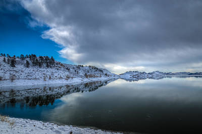 Photograph - Horsetooth Reservoir Eastern Bank by Harry Strharsky
