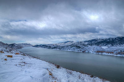 Photograph - Horsetooth Reservoir Looking South by Harry Strharsky