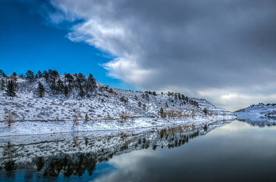 Photograph - Horsetooth Reservoir Reflection by Harry Strharsky