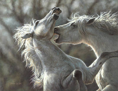Walsh Painting - Horsing Around by Donna  Hillman Walsh
