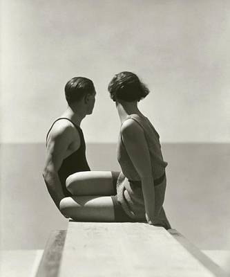 Sitting Photograph - The Divers by George Hoyningen-Huene