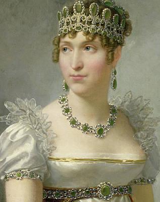 Ruff Painting - Hortense De Beauharnais by Jean-Baptiste Regnault