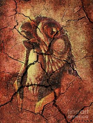 Prehistoric Drawing - Horus - Wall Art by Dragica  Micki Fortuna