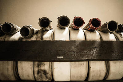 Photograph - Hose Rack by Chris Bordeleau
