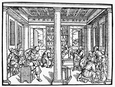 Hospital, 1550 Art Print