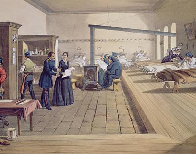 Hospital At Scutari, Detail Of Florence Art Print