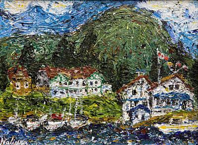 Thai Artist Artists Painting - Hospital Bay - Pender Harbour by Nalidsa Sukprasert