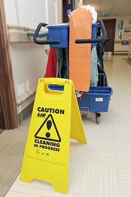 Hospital Cleaning Equipment Art Print by Public Health England