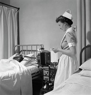 Basal Photograph - Hospital Metabolism Test by Library Of Congress