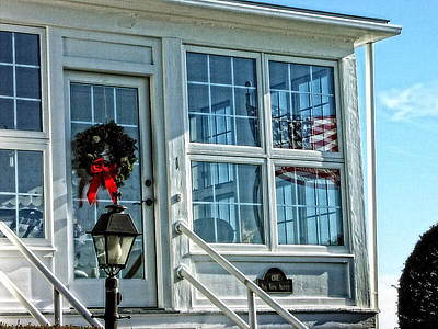 Photograph - Hospital Point Light Windows by Mike Martin