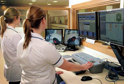 Hospital Radiography Control Room Art Print