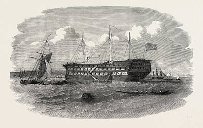 Hospital Ship Near The Seraglio At Constantinople Istanbul Art Print by English School