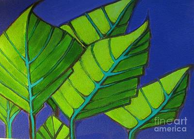 Painting - Hosta Blue Tip One by Grace Liberator