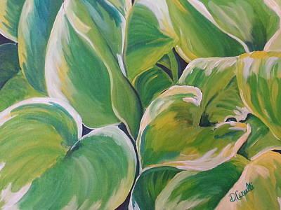 Hosta Garden Art Print