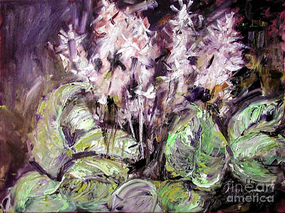 Painting - Hostas Oil Painting by Ginette Callaway