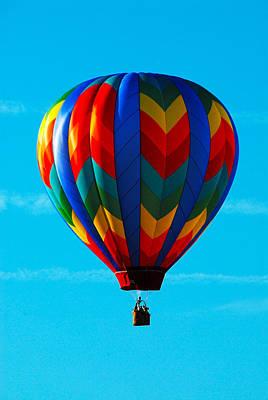 Hot Air Ballon In Flight Art Print