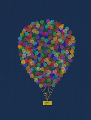Hot Air Balloon Art Print by Aged Pixel