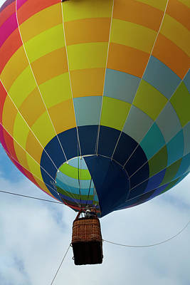 Hot Air Balloon Photograph - Hot Air Balloon, Balloons Over Waikato by David Wall