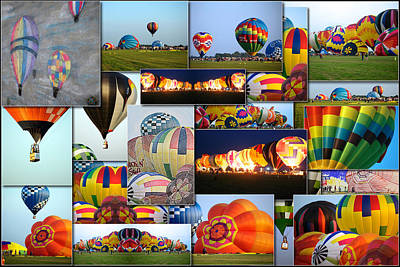 Hot Air Balloon Collage Rectangle Art Print by Thomas Woolworth