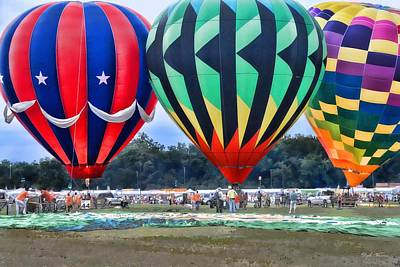 Photograph - Hot Air Balloon Festival by Dyle   Warren
