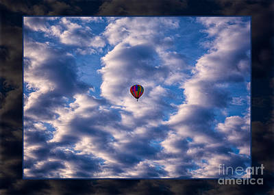Photograph - Hot Air Balloon In A Cloudy Sky Abstract Photograph by Omaste Witkowski