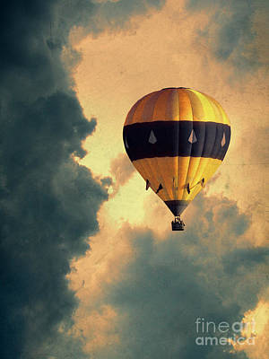 Photograph - Hot Air Balloon In Stormy Sky by Jill Battaglia