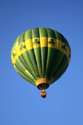 Hot Air Balloon Launch Art Print