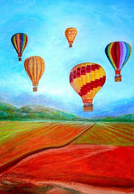 Digital Art - Hot Air Balloon Mural  by Anais DelaVega