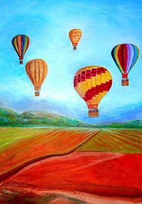 Hot Air Balloon Mural  Art Print by Anais DelaVega
