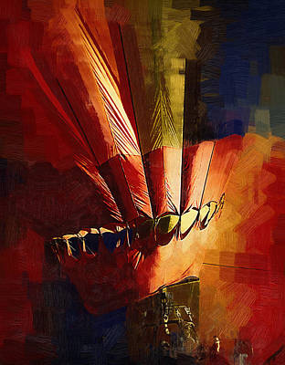 Digital Art - Hot Air Balloon Ready To Go by Kirt Tisdale