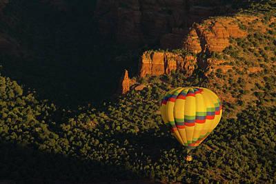 Hot Air Balloon, Red Rock, Coconino Art Print