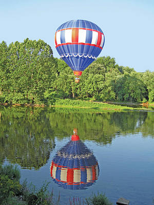 Photograph - Hot Air Balloon Reflection by Lucinda V VanVleck