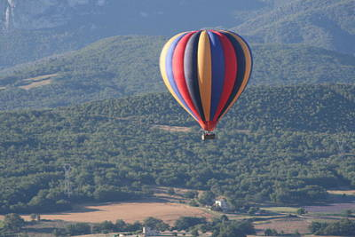 Photograph - Hot Air Balloon Ride by Phoenix De Vries