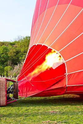 Combustion Photograph - Hot Air Balloon by Tom Gowanlock