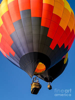 Photograph - Hot Air Ballooning by Edward Fielding