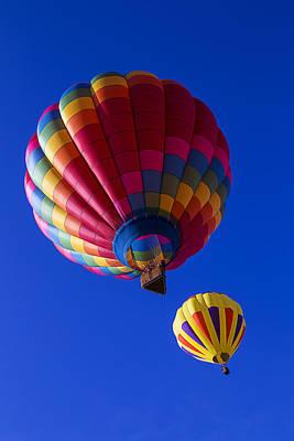 Hot Air Ballooning Together Art Print by Garry Gay