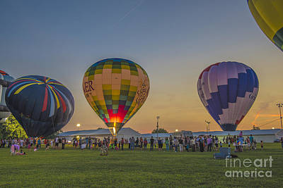 Photograph - Hot Air Balloons 10 by David Haskett II
