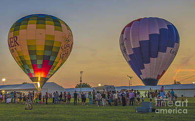 Photograph - Hot Air Balloons 14 by David Haskett