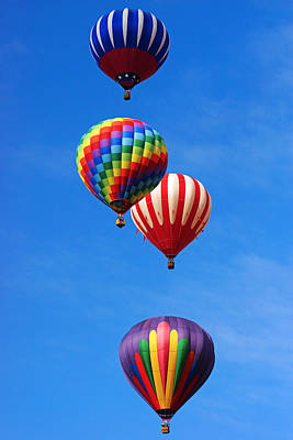 Photograph - Hot Air Balloons At Balloon Fiesta by Daniel Woodrum