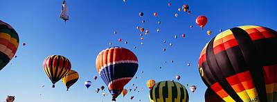Hot Air Balloons At The International Art Print