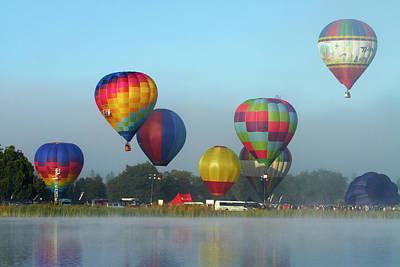 Hot Air Balloon Photograph - Hot Air Balloons, Balloons Over Waikato by David Wall