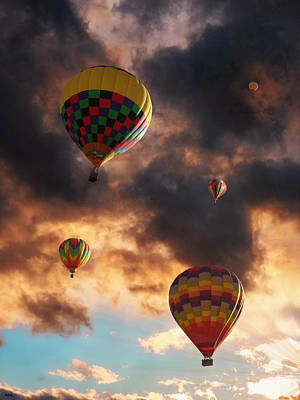 Abstraction Photograph - Hot Air Balloons - Chasing The Horizon by Glenn McCarthy
