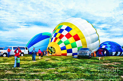 Hot Air Balloons Art Print by Darren Fisher