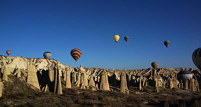 Photograph - Hot Air Balloons In Cappadocia Turkey by Julie VanDore