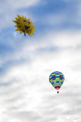 Hot Air Balloons In Flight Art Print by Brenda Giasson