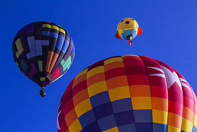 Photograph - Hot Air Balloons Launch by Garry Gay