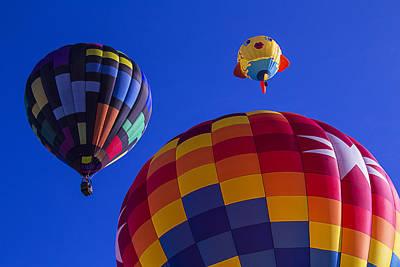 Hot Air Balloons Launch Art Print